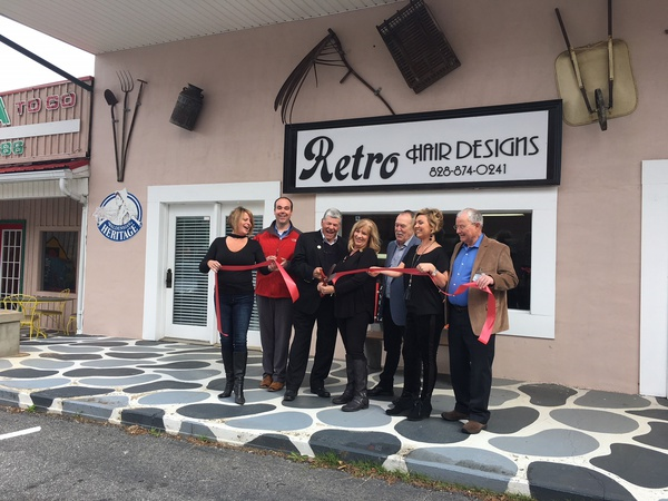 Ribbon Cutting At Retro Hair Design Town Of Valdese
